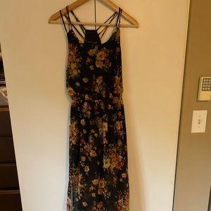 Fall floral maxi dress NEW w tags